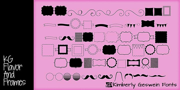 Image for KG Flavor and Frames font