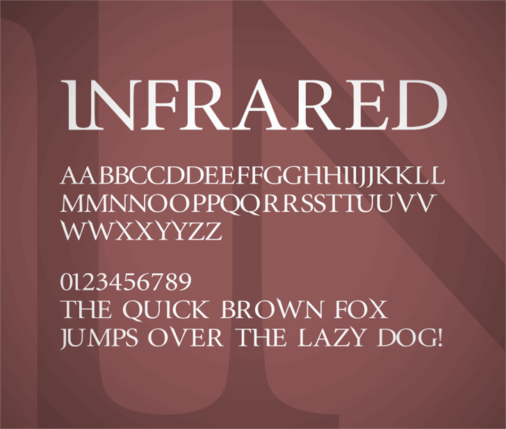 Image for InfraRed font