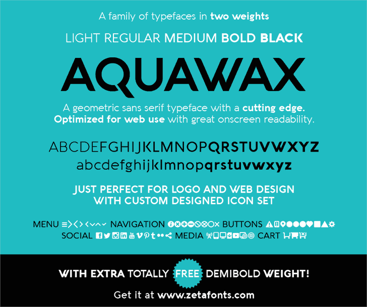 Aquawax font by Zetafonts