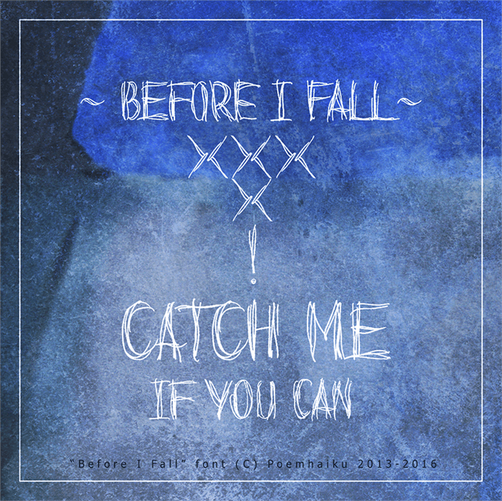 Image for Before I Fall Demo font