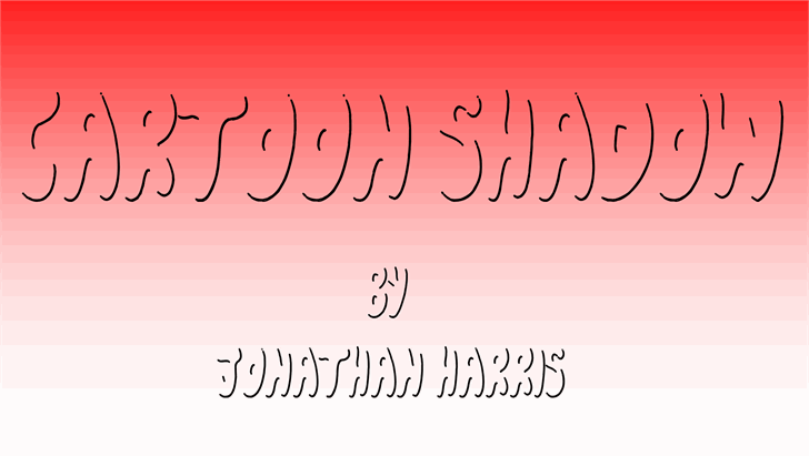 Cartoon Shadow font by Jonathan S. Harris