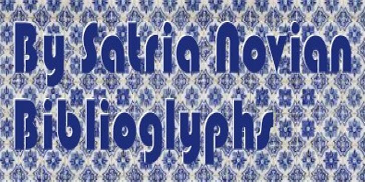 Image for Biblioglyphs font