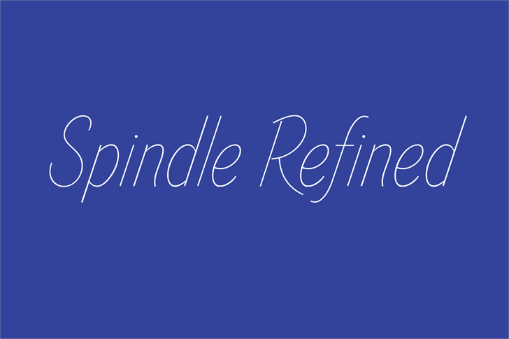 Spindle Refined font by Skyhaven Fonts