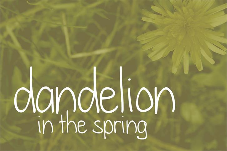 Image for dandelion in the spring font
