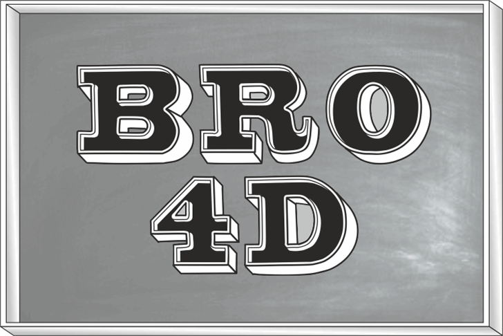 Bro 4D Demo font by studiotypo