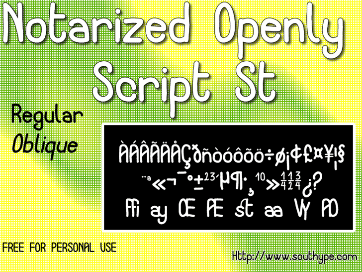 Image for Notarized Openly Script St font