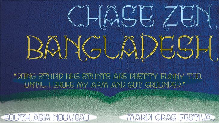 Image for CHASE ZEN BANGLADESH font