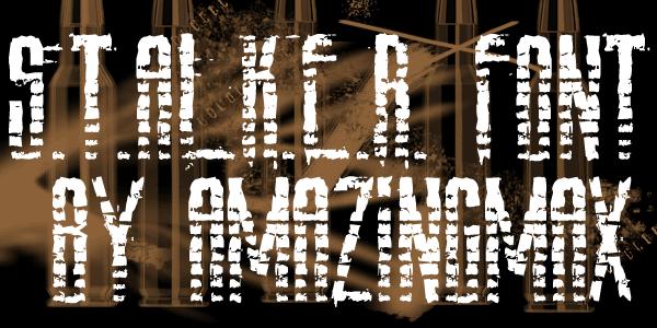 Image for AmazS.T.A.L.K.E.R font
