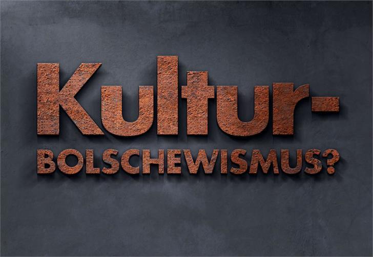 Image for Kulturbolschewismus font