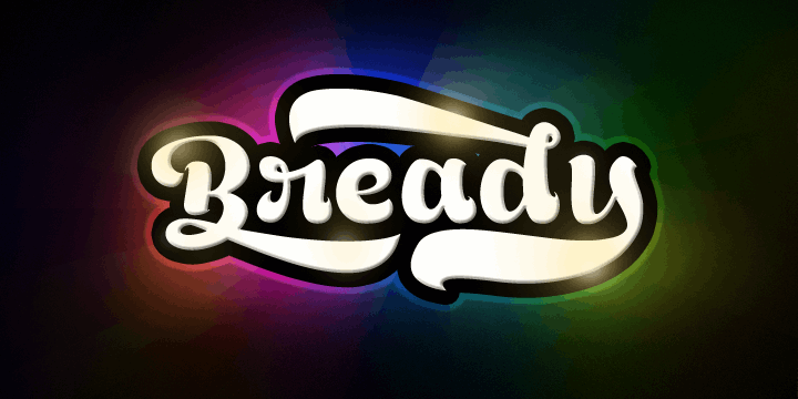 Image for Bready Regular Demo font