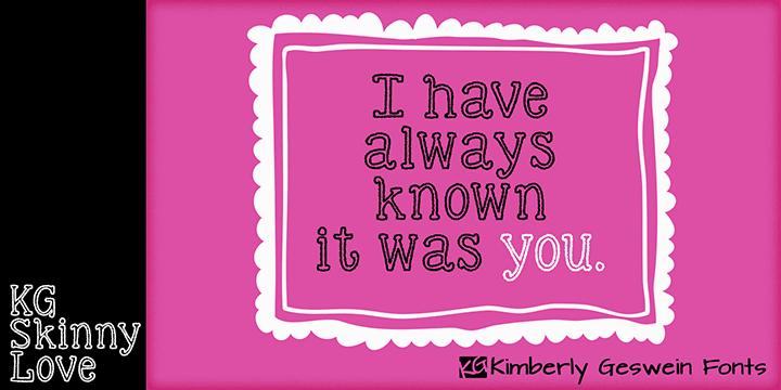 Image for KG Skinny Love font