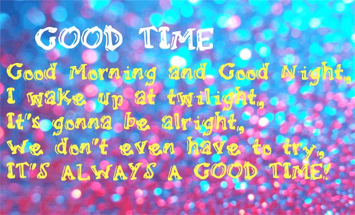 GoodTime font by Nishat Firoj