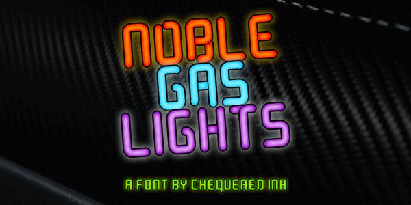 Image for Noble Gas lights font