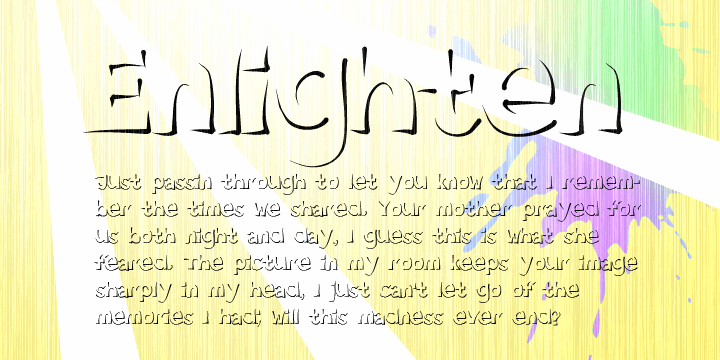Image for Enlighten  font