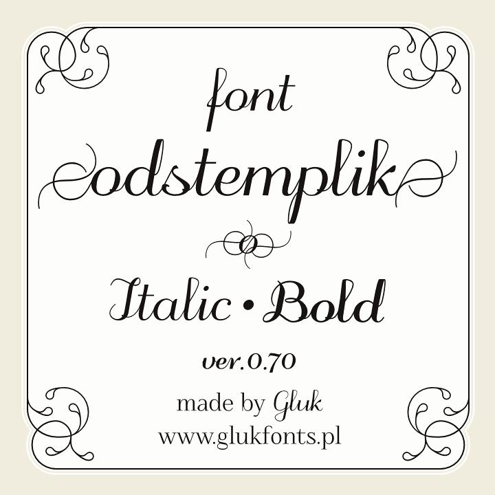 Image for odstemplik font