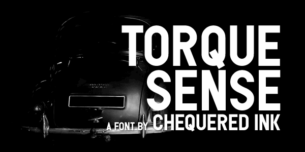 Torque Sense font by Chequered Ink