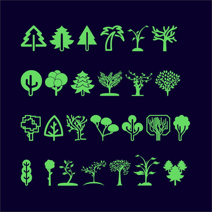 Trees Go font by Jamel E. Robin