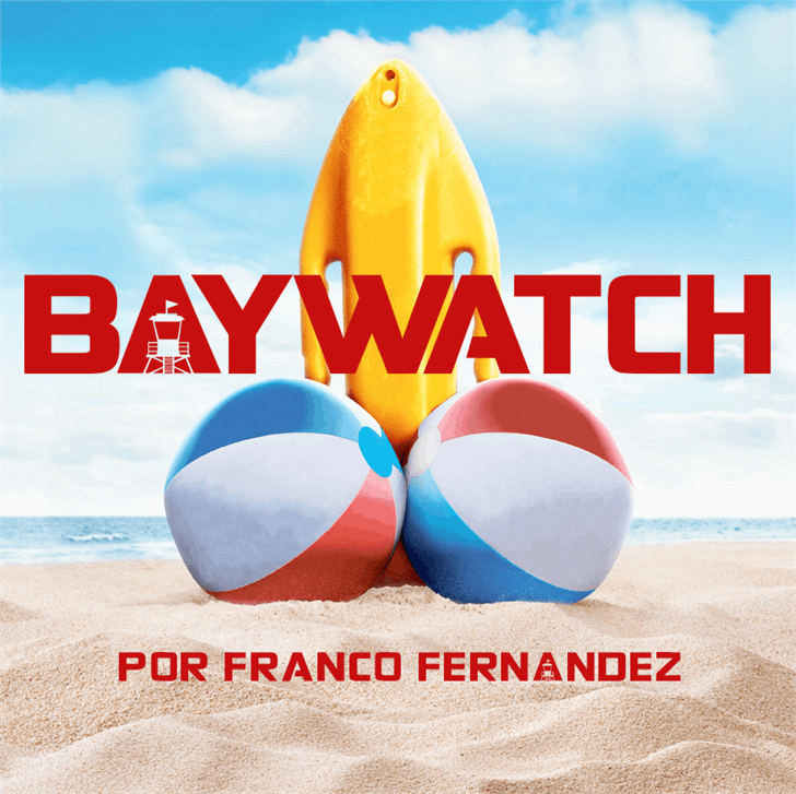 Baywatch font by FZ