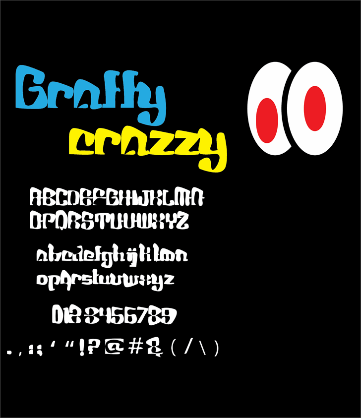 Graffy Crazzy font by Cé - al