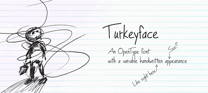 Turkeyface font by Leeviathan