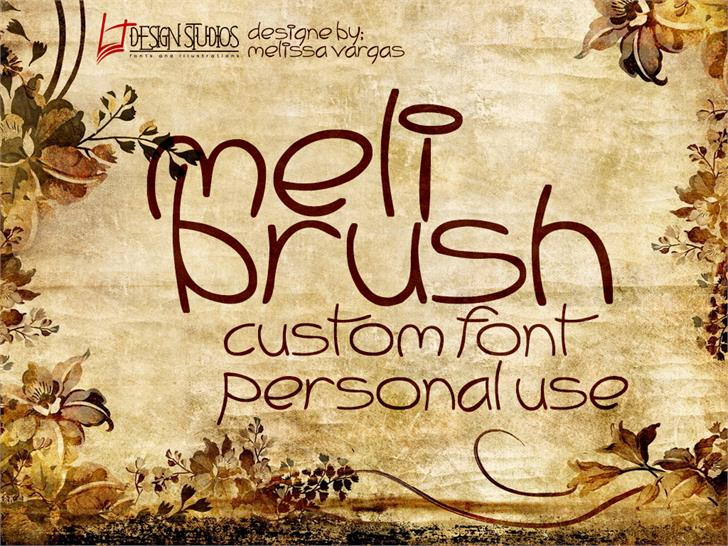 Image for Meli Brush font