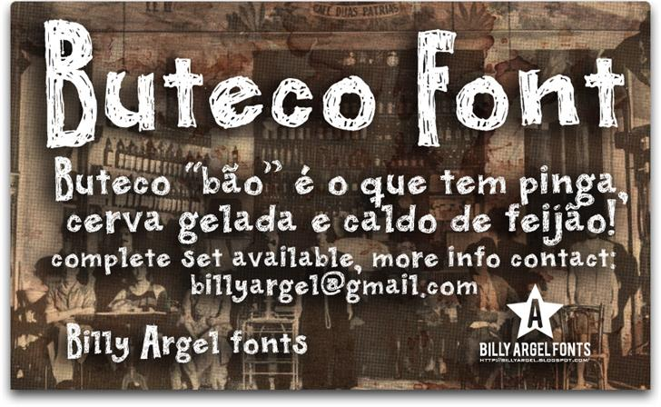 Image for BUTECO  font