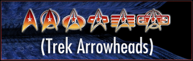 TrekArrowheads font by Pixel Sagas