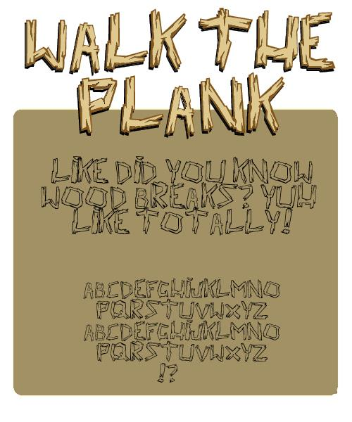 Image for walk the plank font