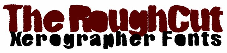 Image for RoughCut font