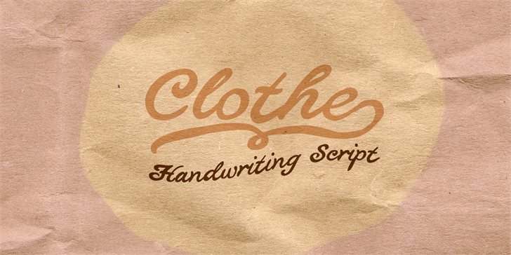 Image for Clothe PERSONAL USE ONLY font