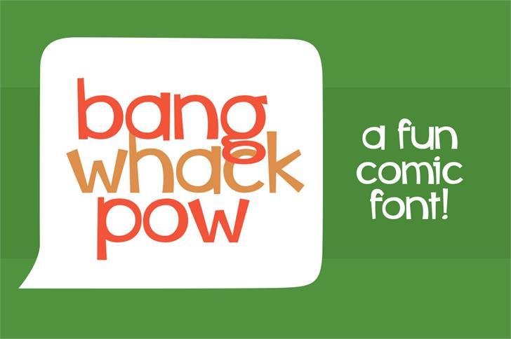 Image for whiz bang font