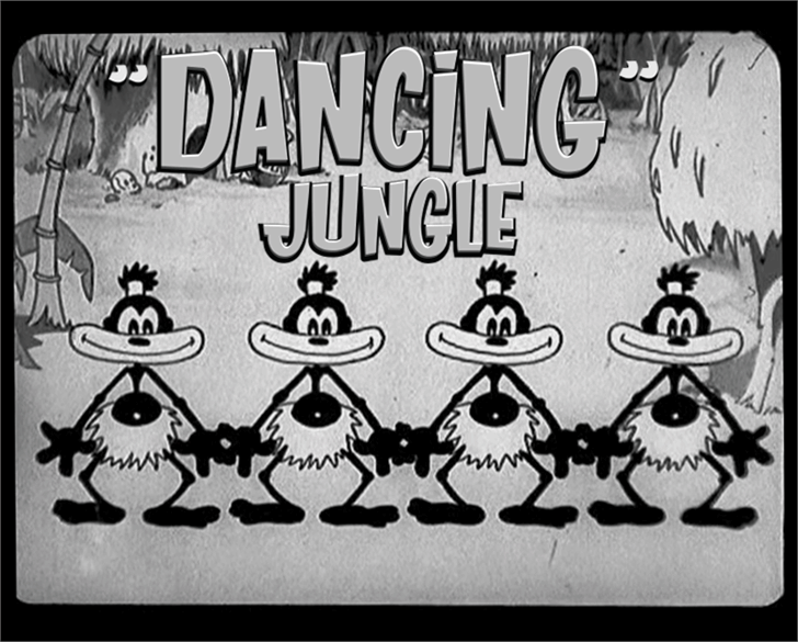 Image for DANCING JUNGLE font