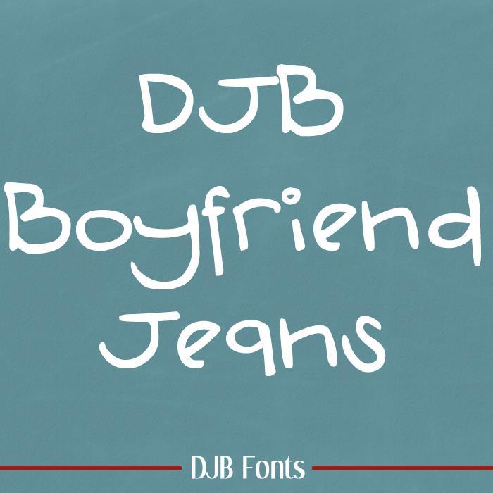 Image for DJB Boyfriend Jeans font