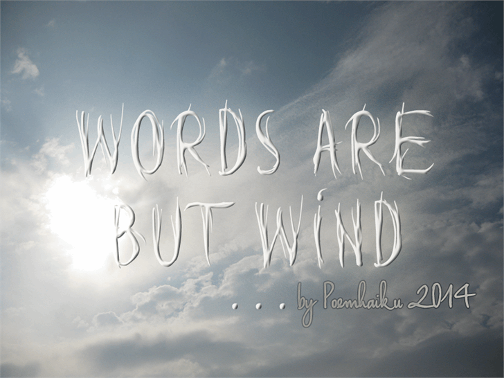 Image for Words are but wind font