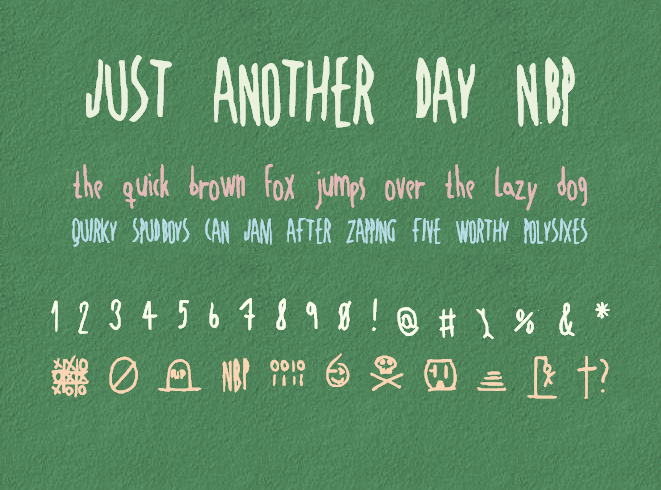 Image for JustAnotherDayNBP font