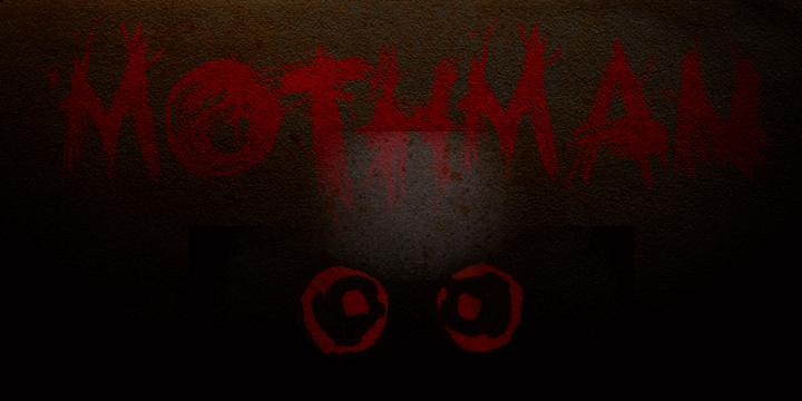 DK Mothman font by David Kerkhoff