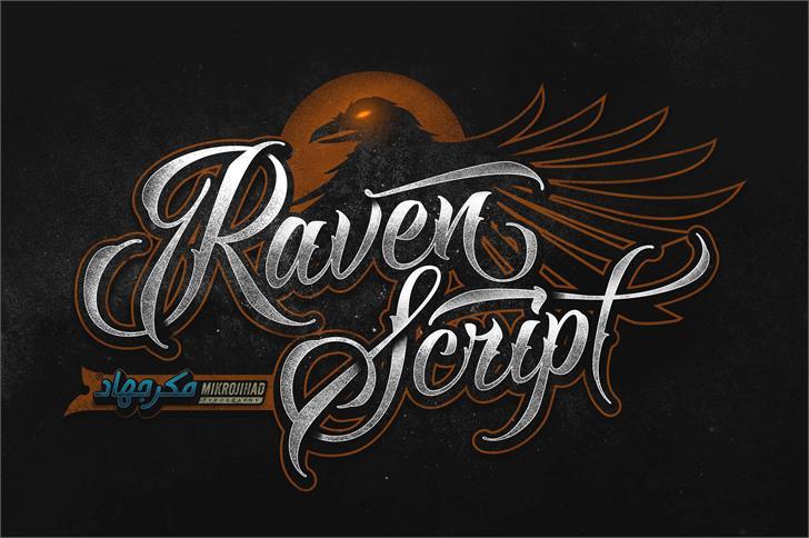 Image for Raven Script DEMO font
