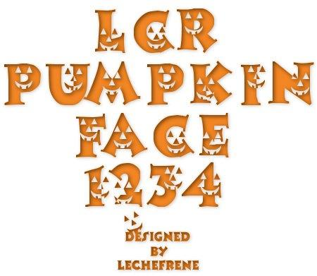 LCR Pumpkin Face font by LeChefRene