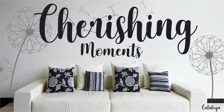Image for Cherishing Moments font