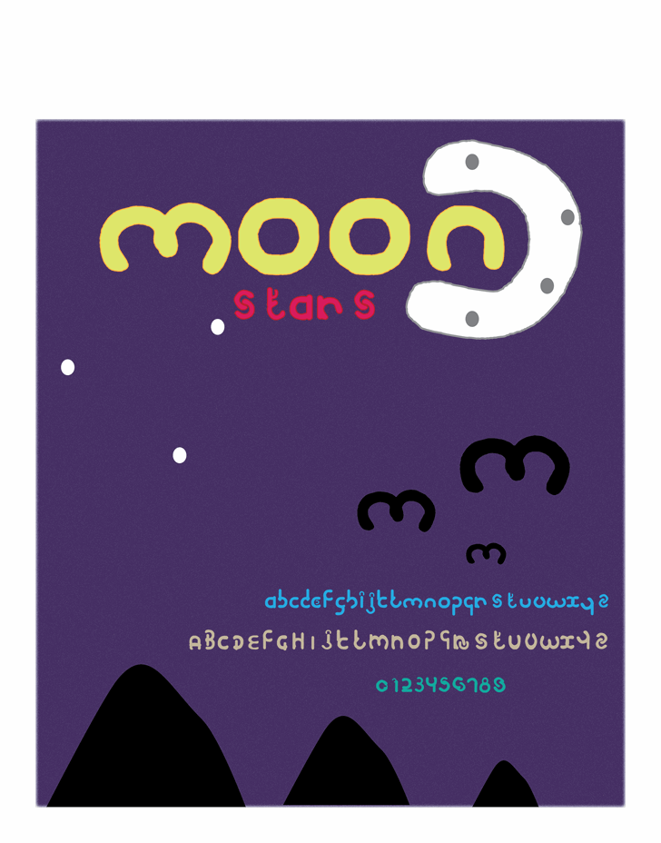 Image for moon font