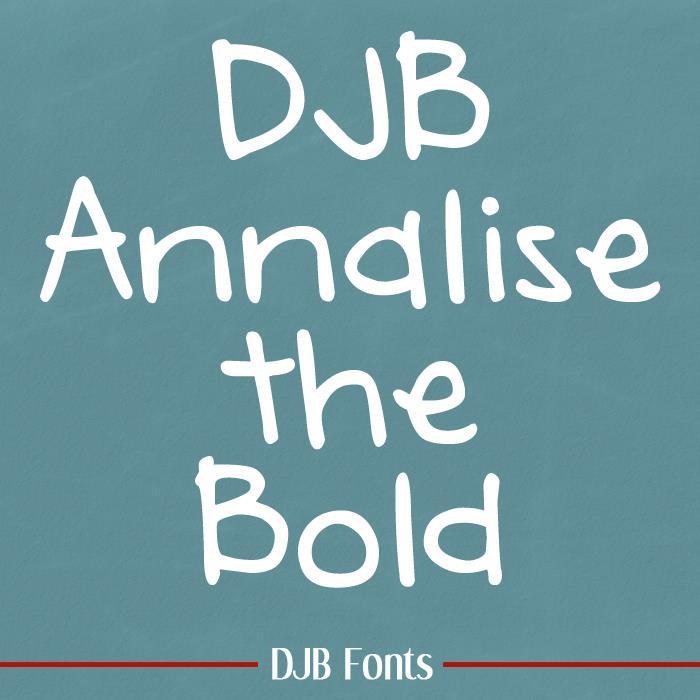 DJB Annalise font by Darcy Baldwin Fonts