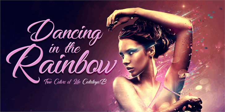 Dancing in the Rainbow font by Foundmyfont Studio Typeface LTD