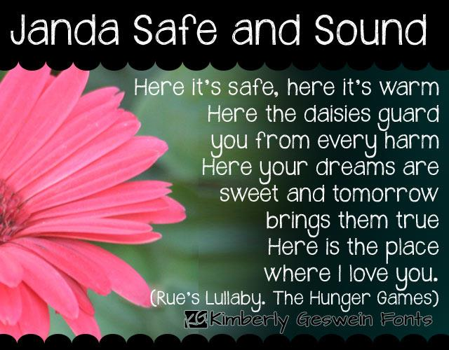 Image for Janda Safe and Sound font
