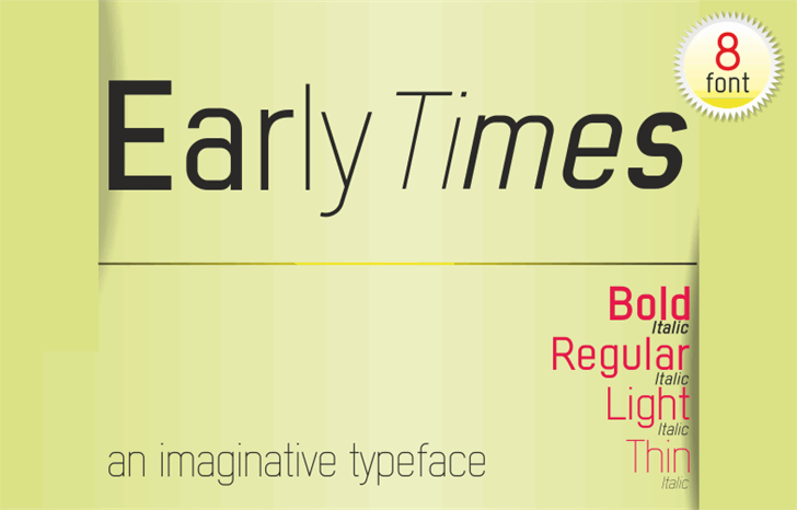 Image for Early Times Demo font