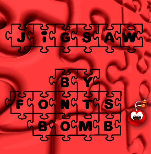 Image for Fonts Bomb JiGSAW font
