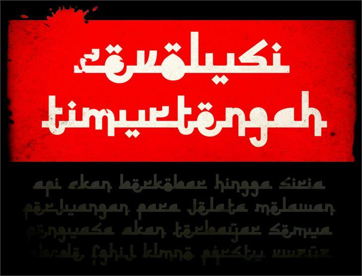 Image for Revolusi Timur Tengah font