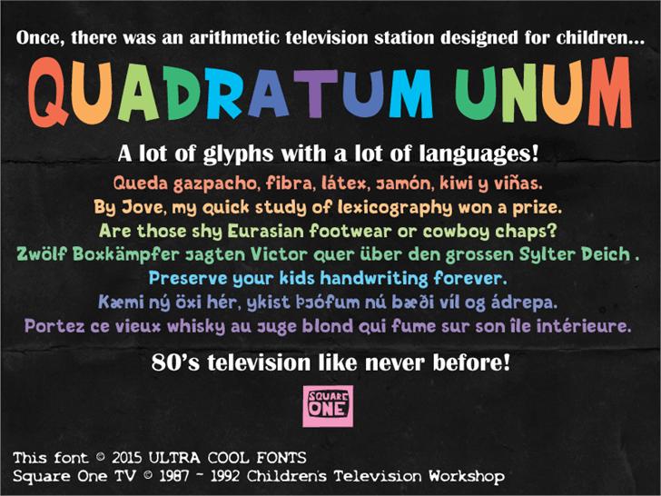 Image for Quadratum Unum font
