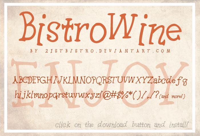 Image for BistroWine font