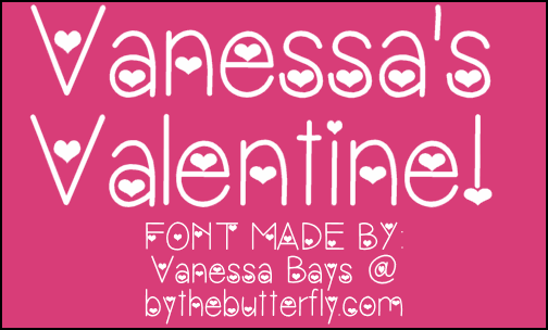 Image for VanessasValentine font