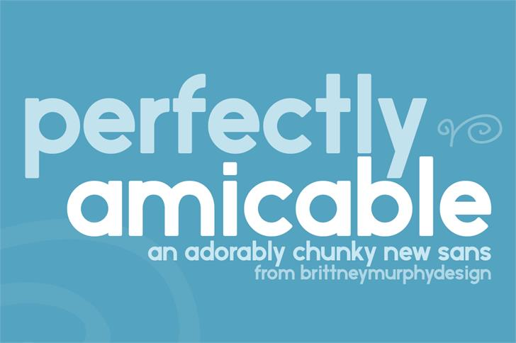 Image for perfectly amicable font